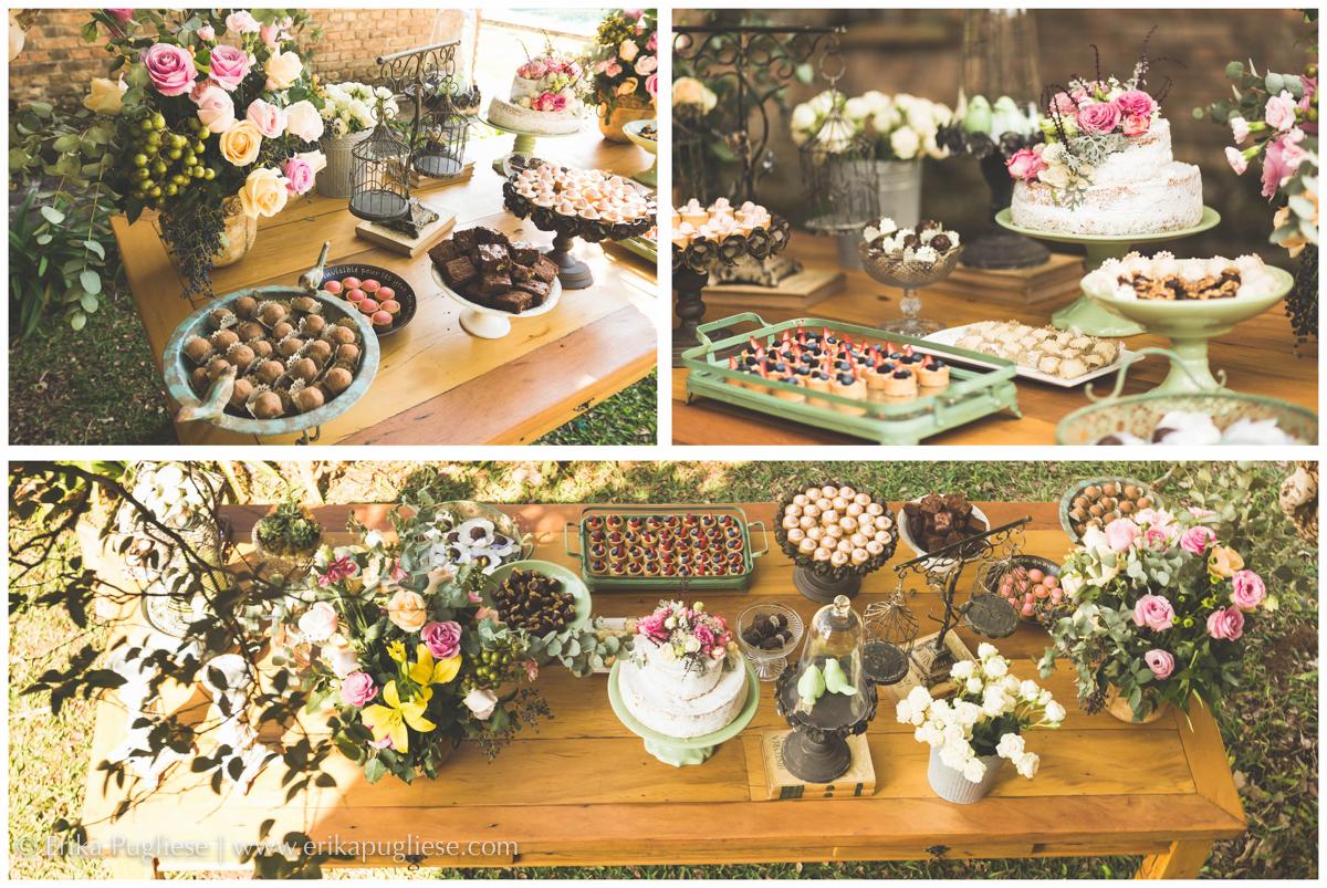 A mesa dos doces no casamento tem um destaque todo especial