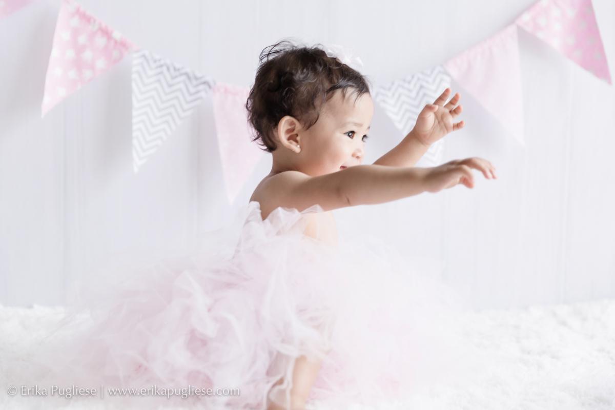 princesa de tutu a bebê ficou linda no seu ensaio infantil pré aniversário