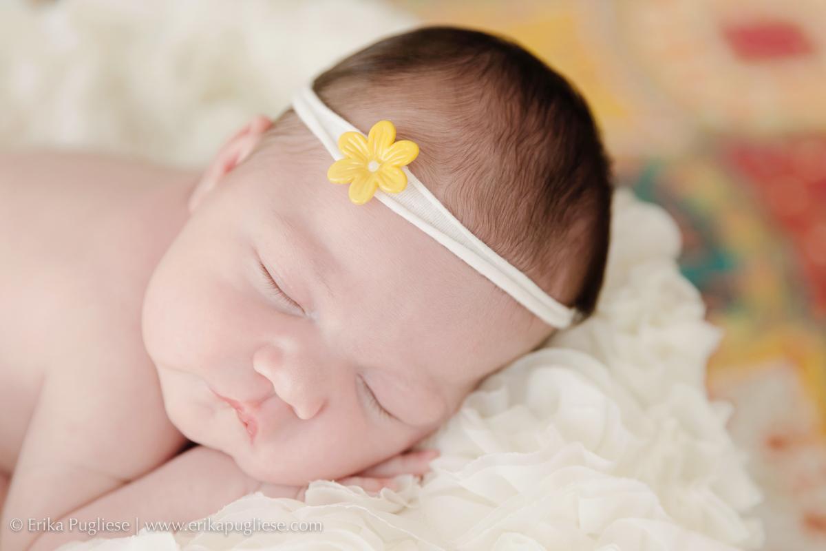 a florzinha Larissa recém-nascido fotografado por Erika Pugliese