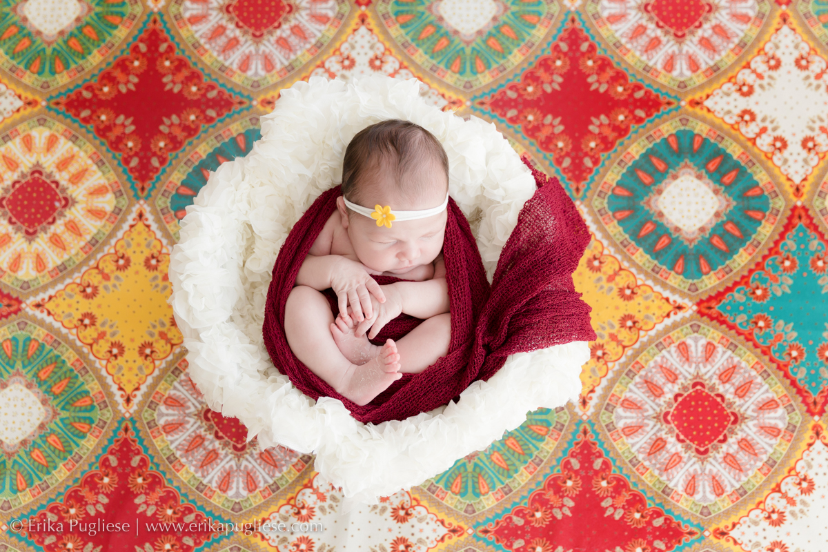 Testando novas cores com a fotografia da Larissa newborn
