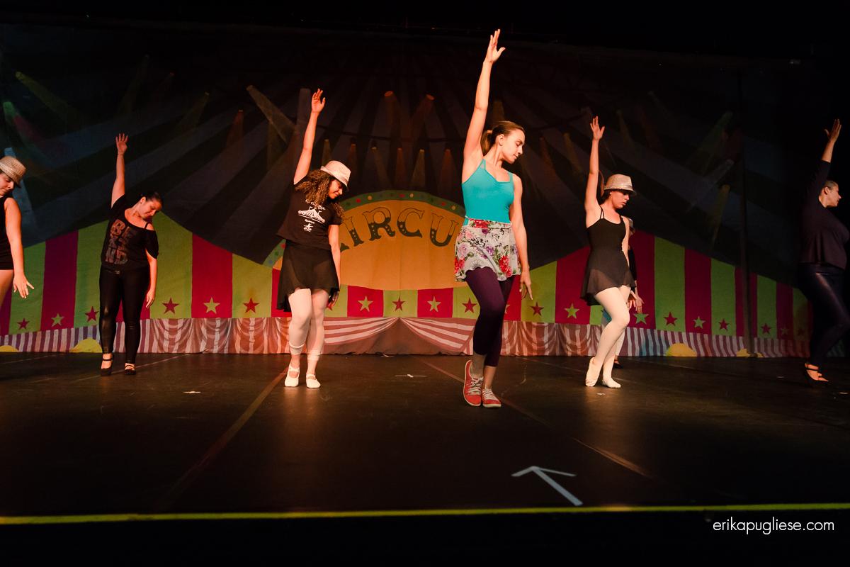 Bastidores do espetáculo Circus do Stúdio de Dança Le Jeté, localizado no Morumbi - SP