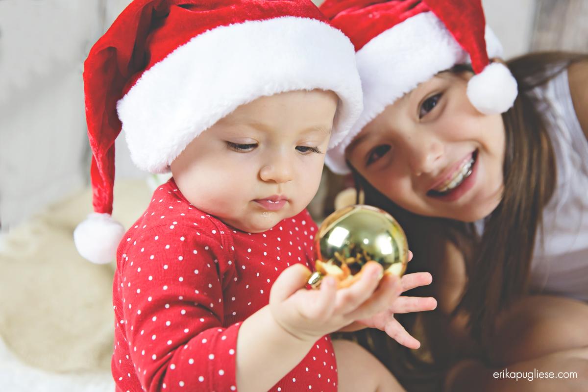 Ensaio Infantil de Natal - Ana Luiza e Laura