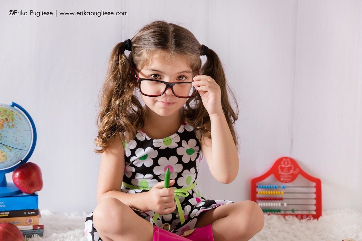 preste bem atenção na professora crianças ensaio infantil