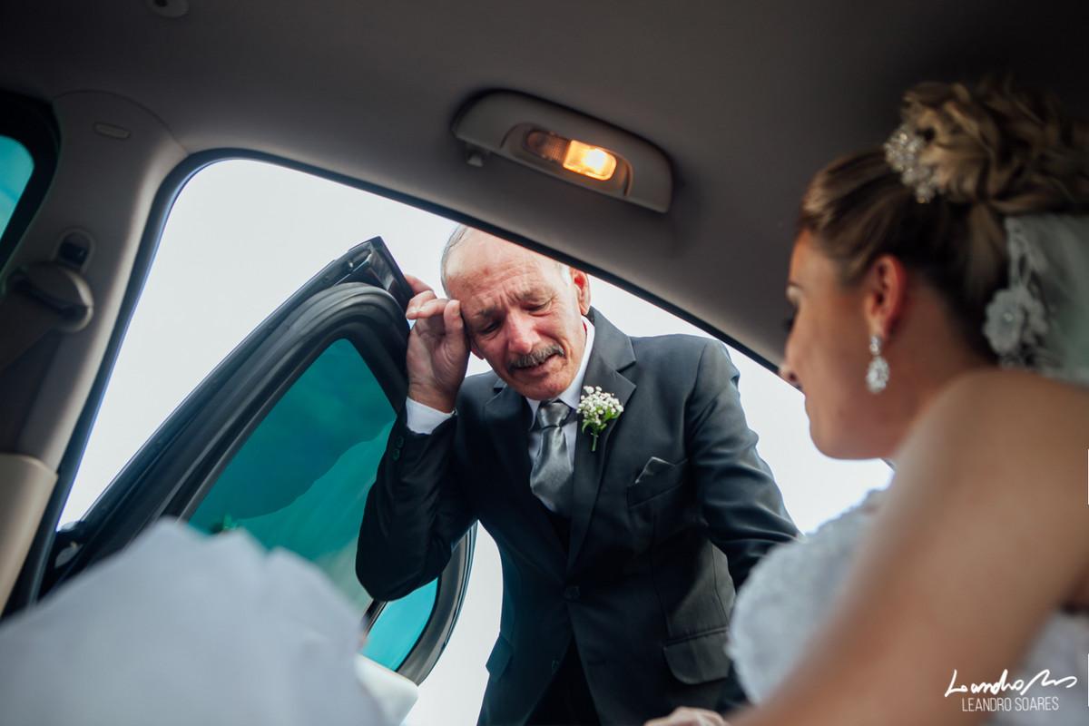 Pai e noiva fotografia casamento