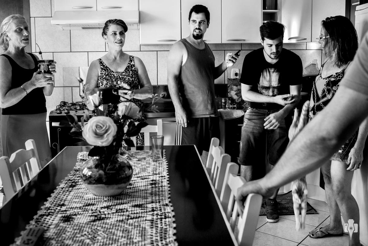 making of de noivo com muvuca, familia toda reunida