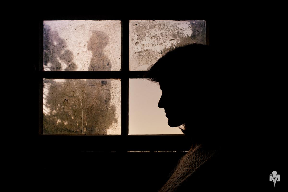 ensaio de casal na janela