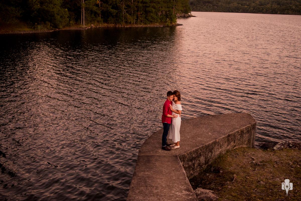 ensaio de casal na barragem