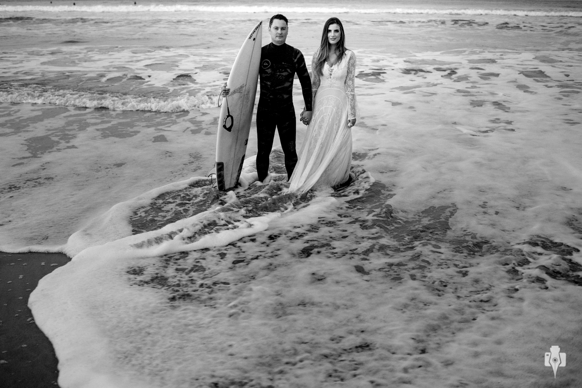 ensaio pré casamento com surf