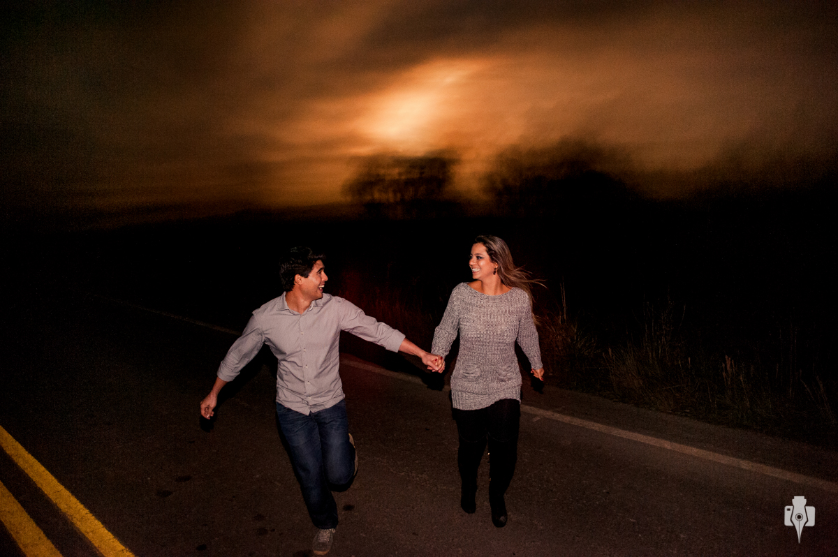ensaio de casal de noite