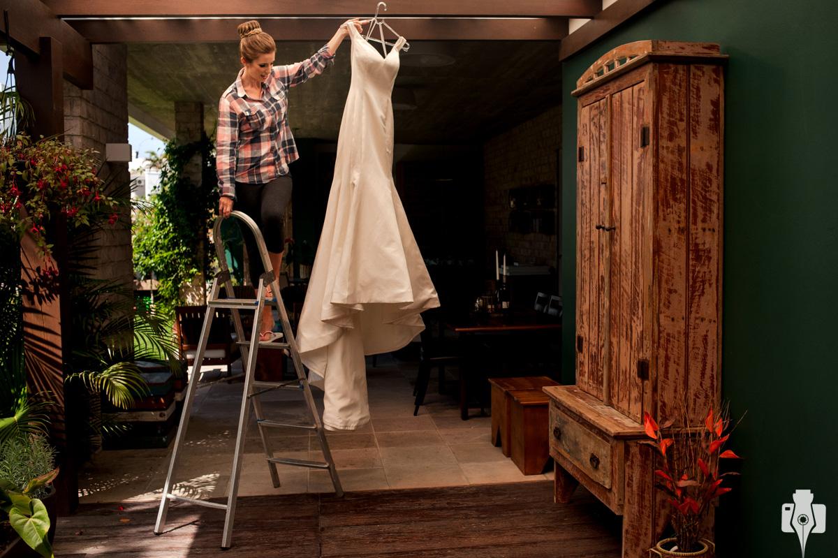fotografia do vestido da noiva