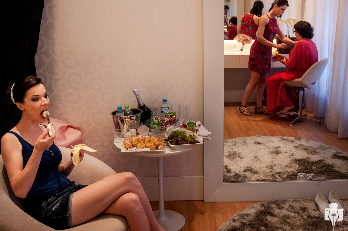 fotos inusitadas dos preparativos da noiva