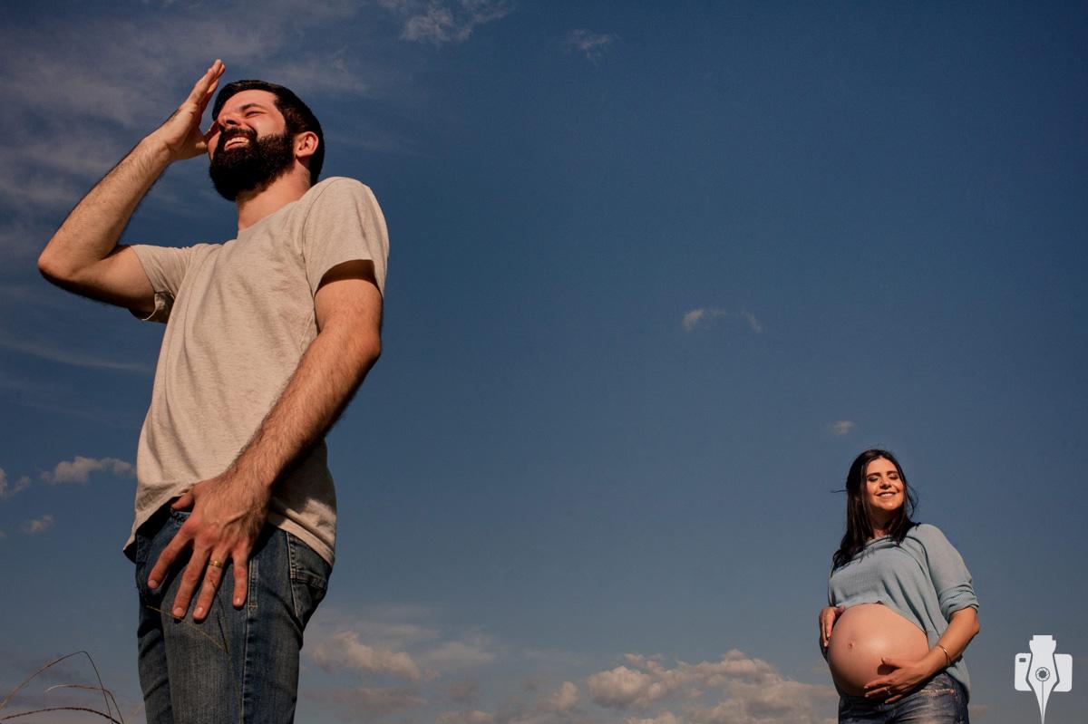 ensaio de grávida em dia de sol