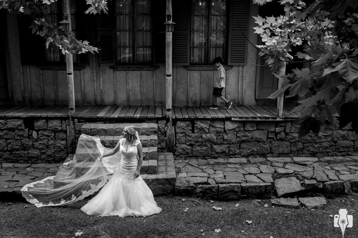 ensaio de vestido de noiva em canela