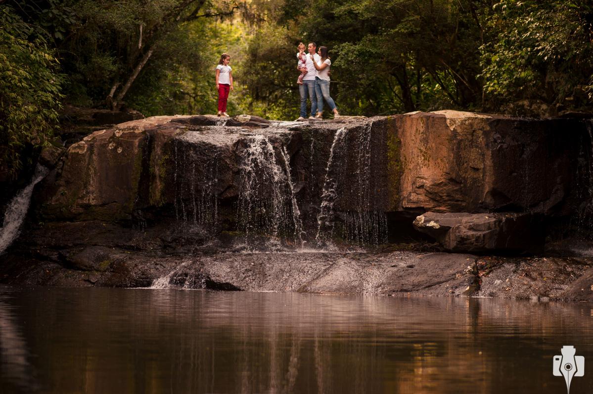 fotos de família na cascata colônia monge