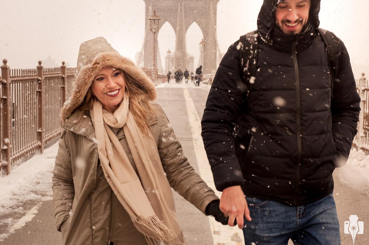 fotos de casal na ponte do Brooklin