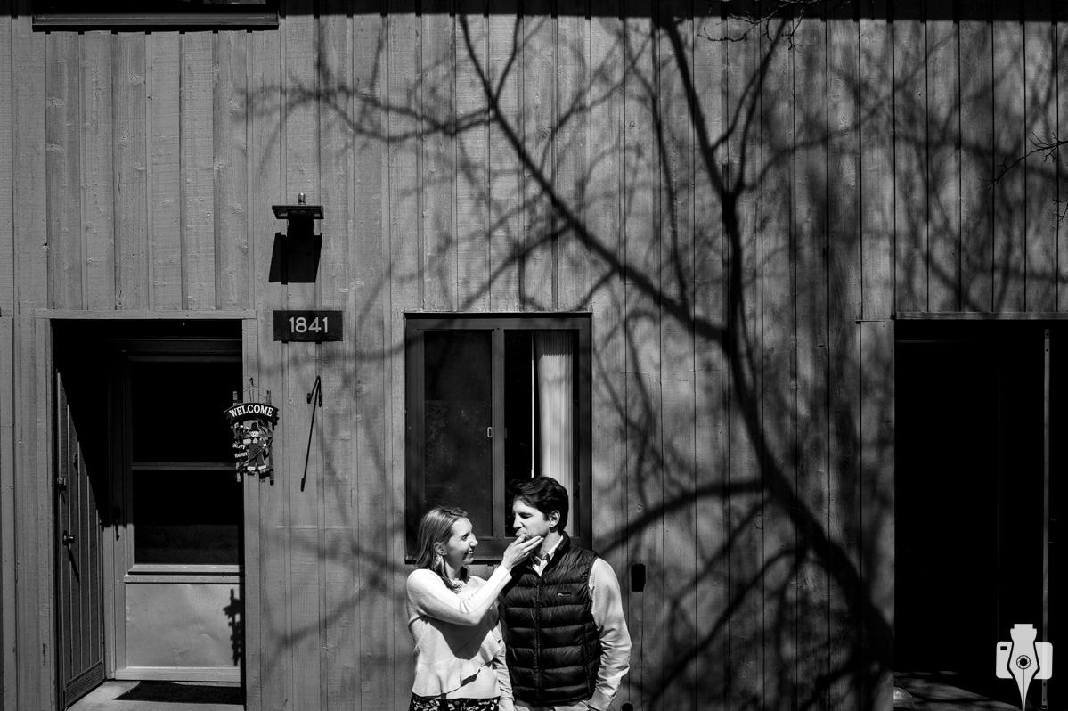 sessão fotografica de casal em casa