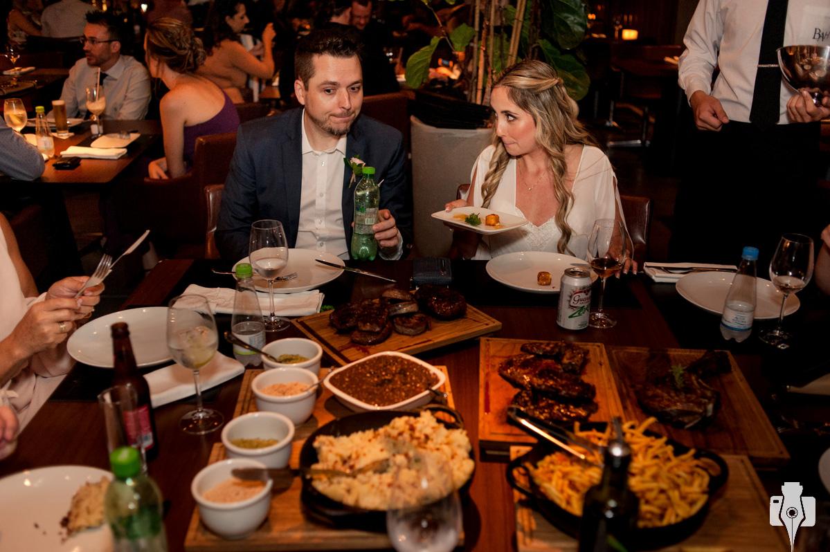 fotos de jantar de casamento