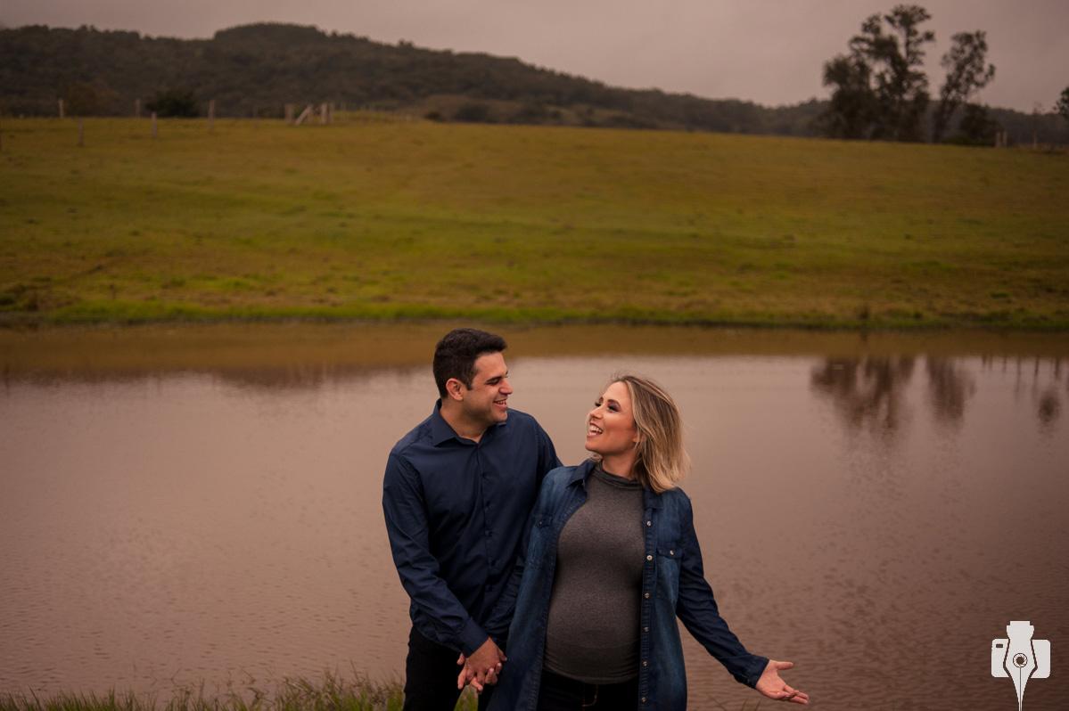 fotos de grávida no sítio da família