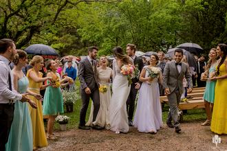 Casamento de Casamento triplo: Jeni e Djoni, Najhara e Alexander, Kéurin e Éverton