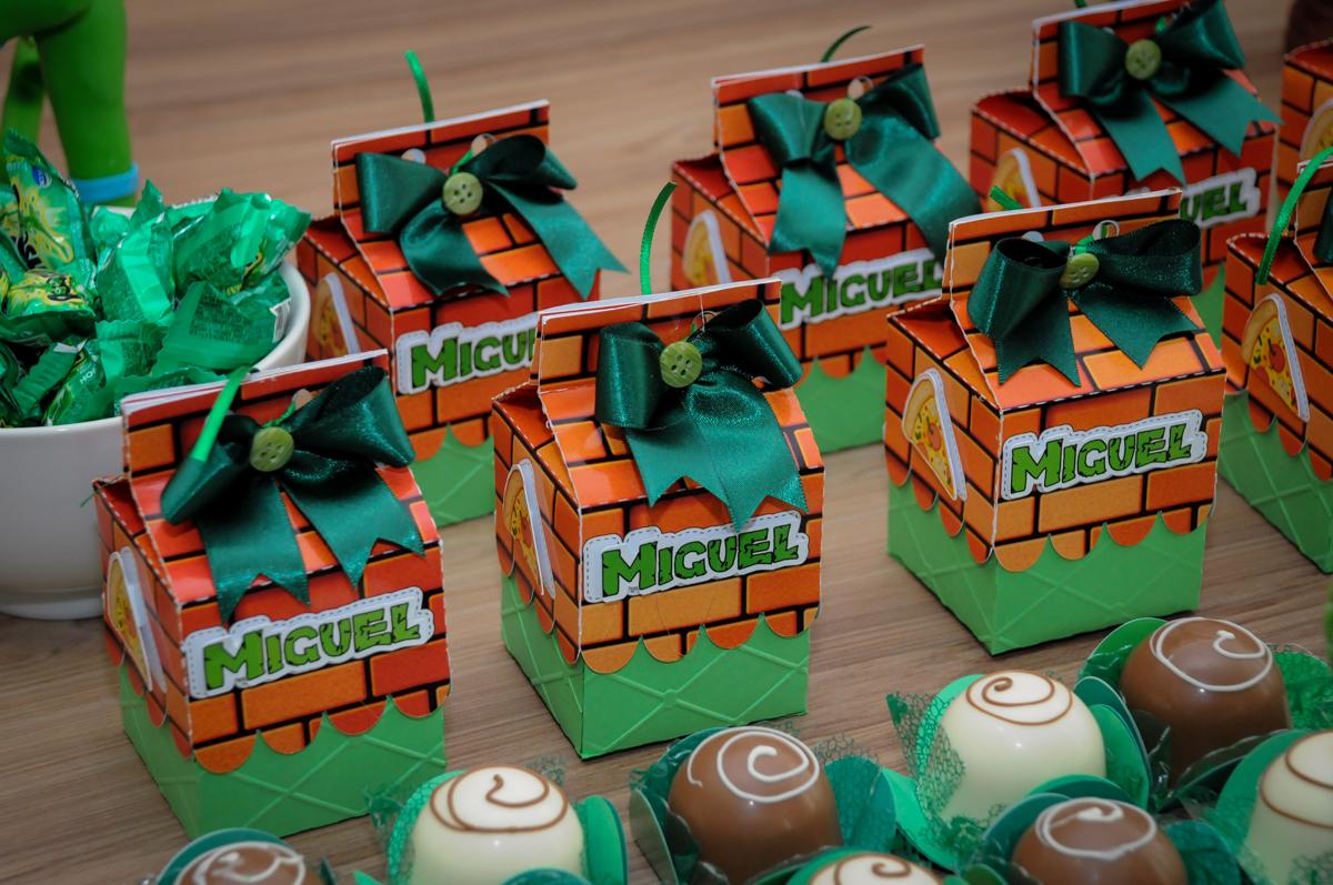 lembrancinhas para as crianças no Condomínio Vila Leopoldina, festa infantil, tema Tartaruga Ninja, Miguel 5 anos