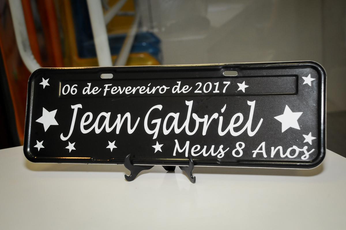 placa da limosine no Buffet Fantastic World, Morumbi São Paulo, Festa Infantil, aniversário de Jean Gabriel 8 anos, tema da festa Poke Mon