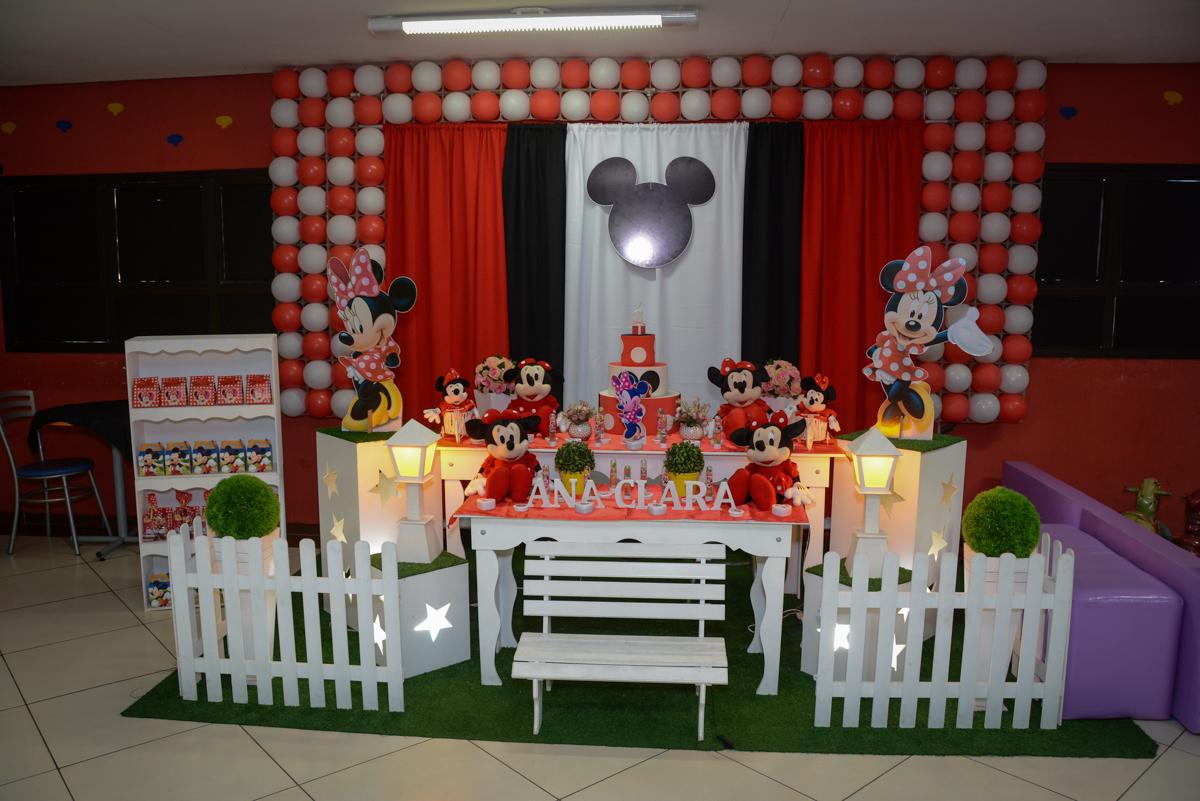 Festa infantil, Ana Clara 2 aninhos, tema da festa Minie Vermelha, Buffet Balão Mágico, Osaco, SP