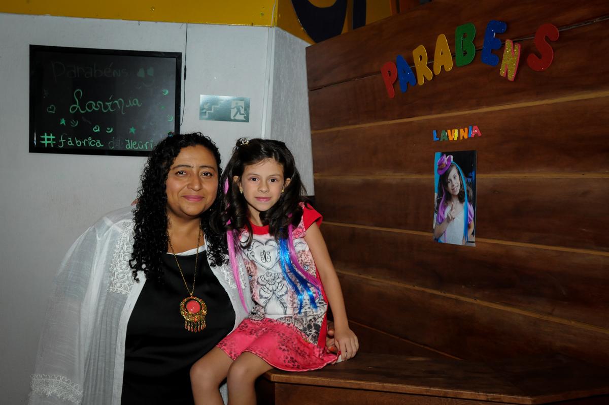 entrada para a festa no Festa infantil, Buffet Fábrica da Alegria, aniversário de Laínia 7 anos, tema da festa Monster High