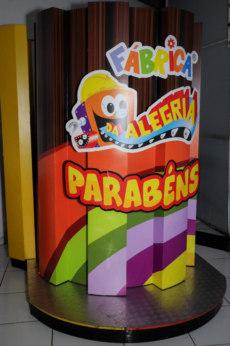 máquina do parabéns no Buffet Fábrica da Alegria, Morumbi, São Paulo, SP