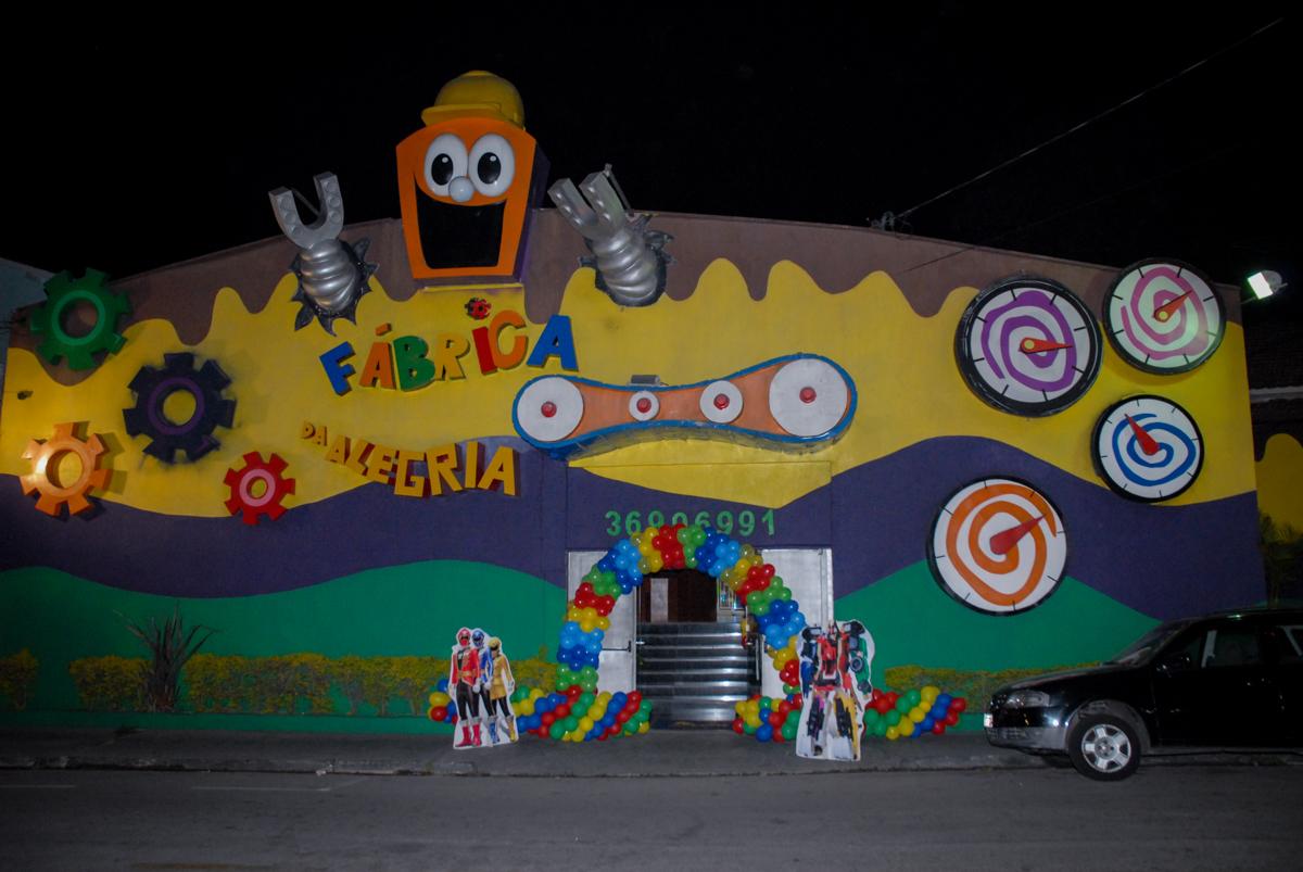 Buffet Fábrica da Alegria, Osasco, São Paulo, SP, aniversário de Matheus 7 anos, tema da festa Power Ranger
