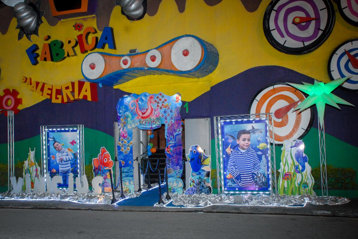 Buffet Fábrica da Alegria, Osasco, São Paulo, aniversário de Vinicius 6 anos, tema da festa Fundo do Mar