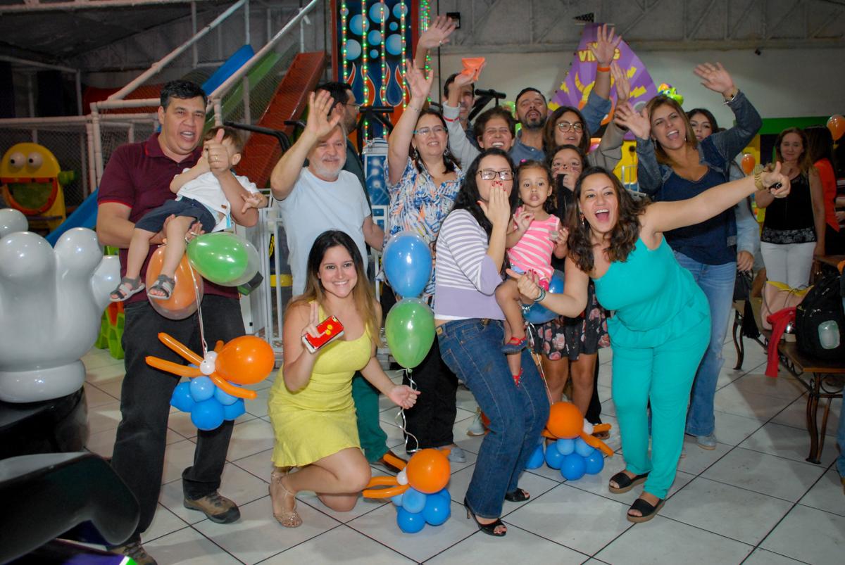 final de festa no Buffet Fábrica da Alegria, Osasco, São Paulo, aniversário de Vinicius 6 anos, tema da festa Fundo do Mar
