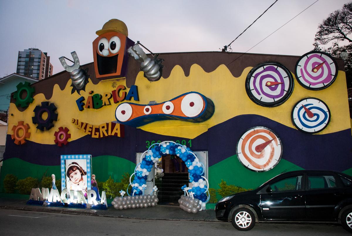 Buffet Fábrica da Alegria, Osasco, São Paulo, aniversário de anna clara, 3 anos, tema da festa Frozen