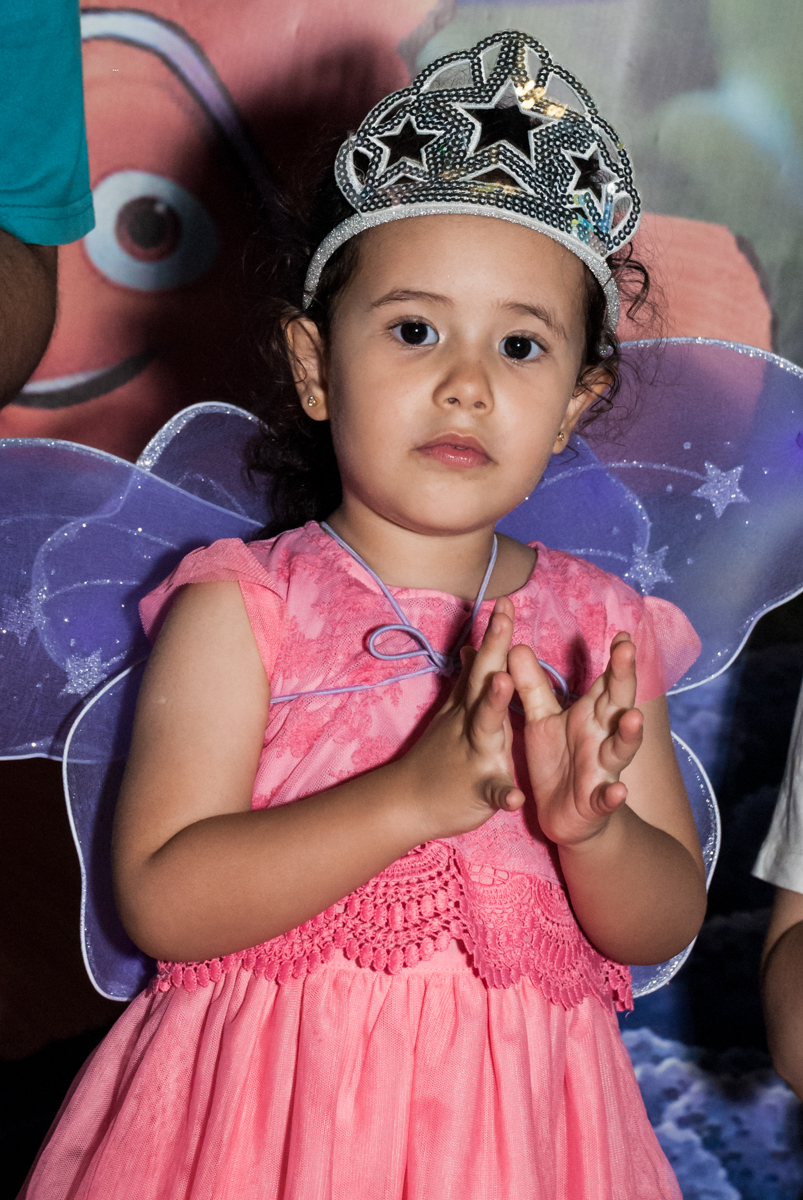 palmas para o parabéns no Buffet Magic Joy, saude, são Paulo, aniversário de Catarina 3 anos, tema da festa fundo do mar