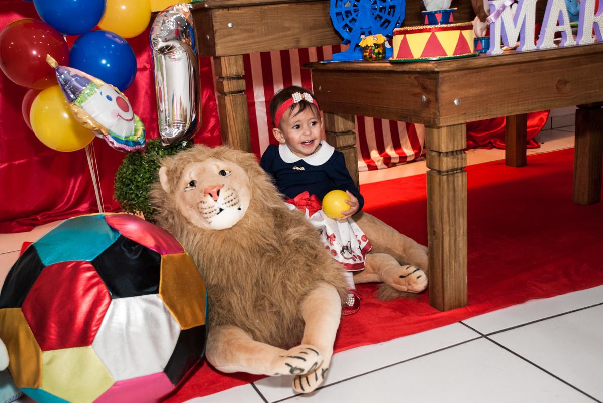 foto divertida com o leão