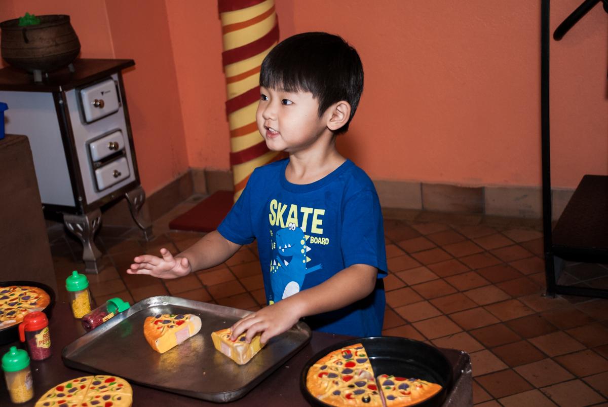 pizzaiolo divertido