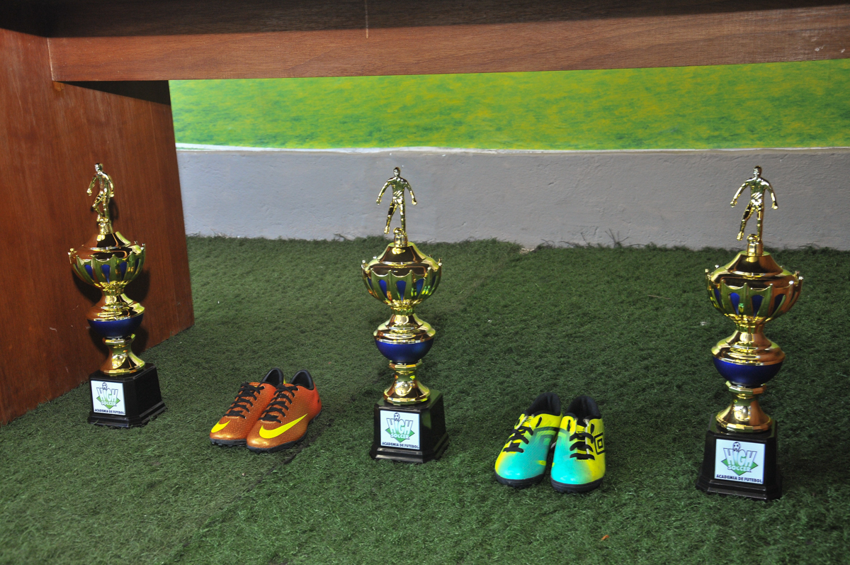 troféu dos jogadores no Buffet High Soccer