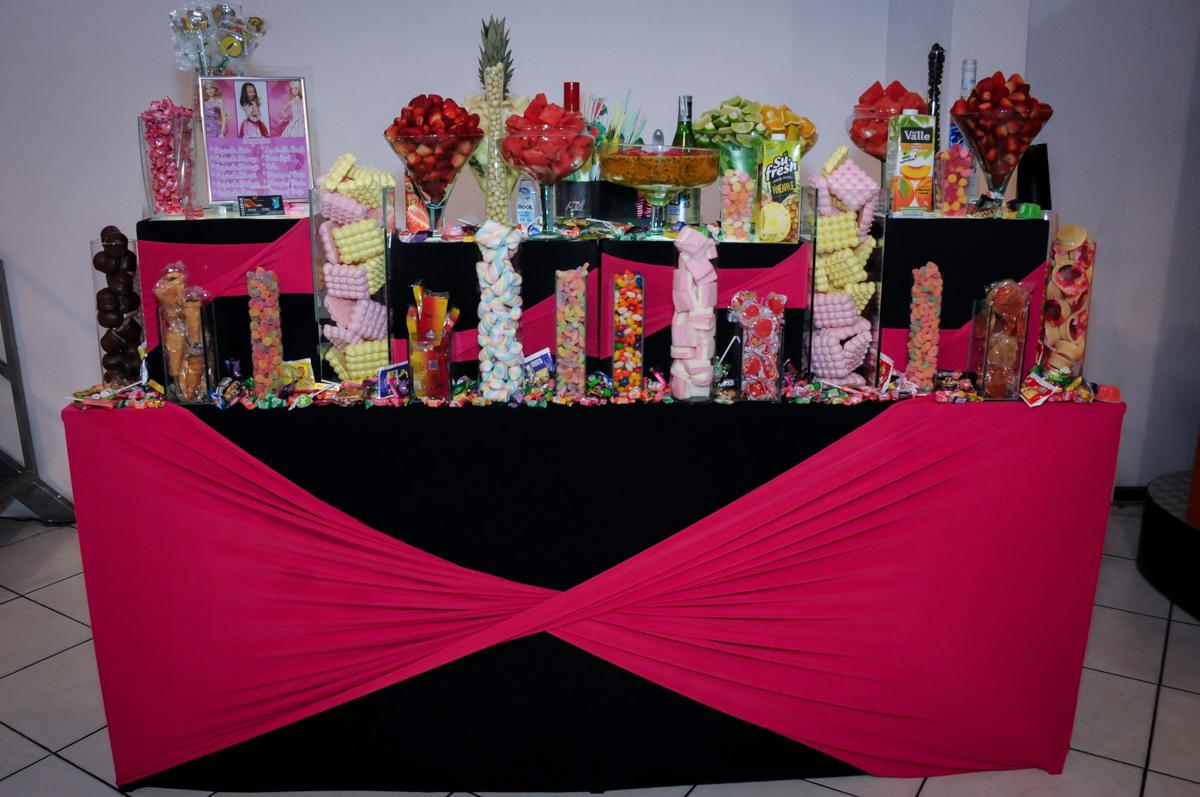 mesa de bebidas no Buffet Fábrica da Alegria, Unidade Osasco