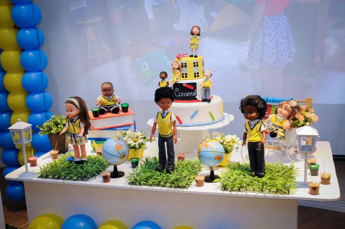 detalhes da mesa decorada tema carrossel no Buffet Infantil Amazing, Alphaville, São Paulo