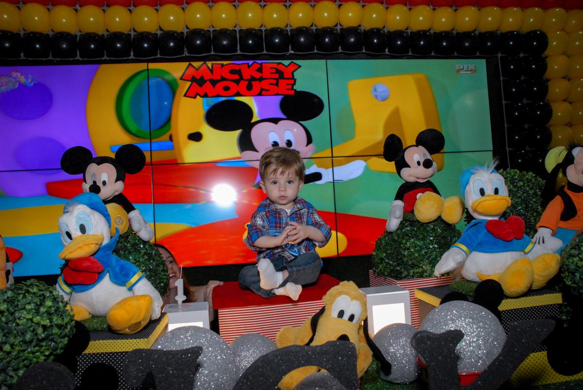 foto do gabriel 1 aninho na mesa tema circo no Buffet Bugui Ugui, Vila Mascote, São Paulo