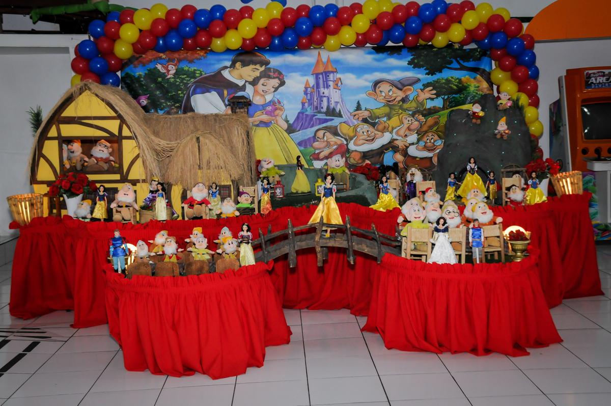 aniversário infantil, nathália 2 anos,tema da mesa branca de neve, buffet magic joy, moema, sp