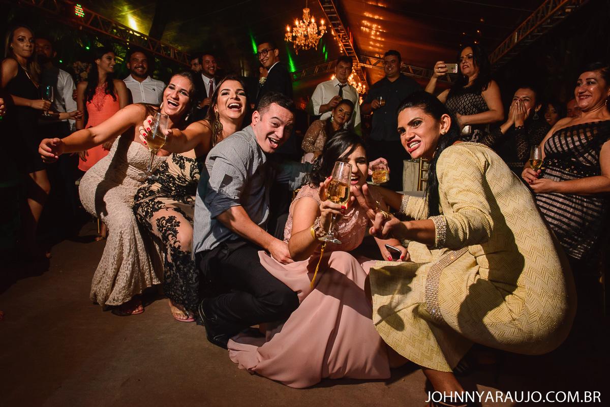 festa de casamento a noite