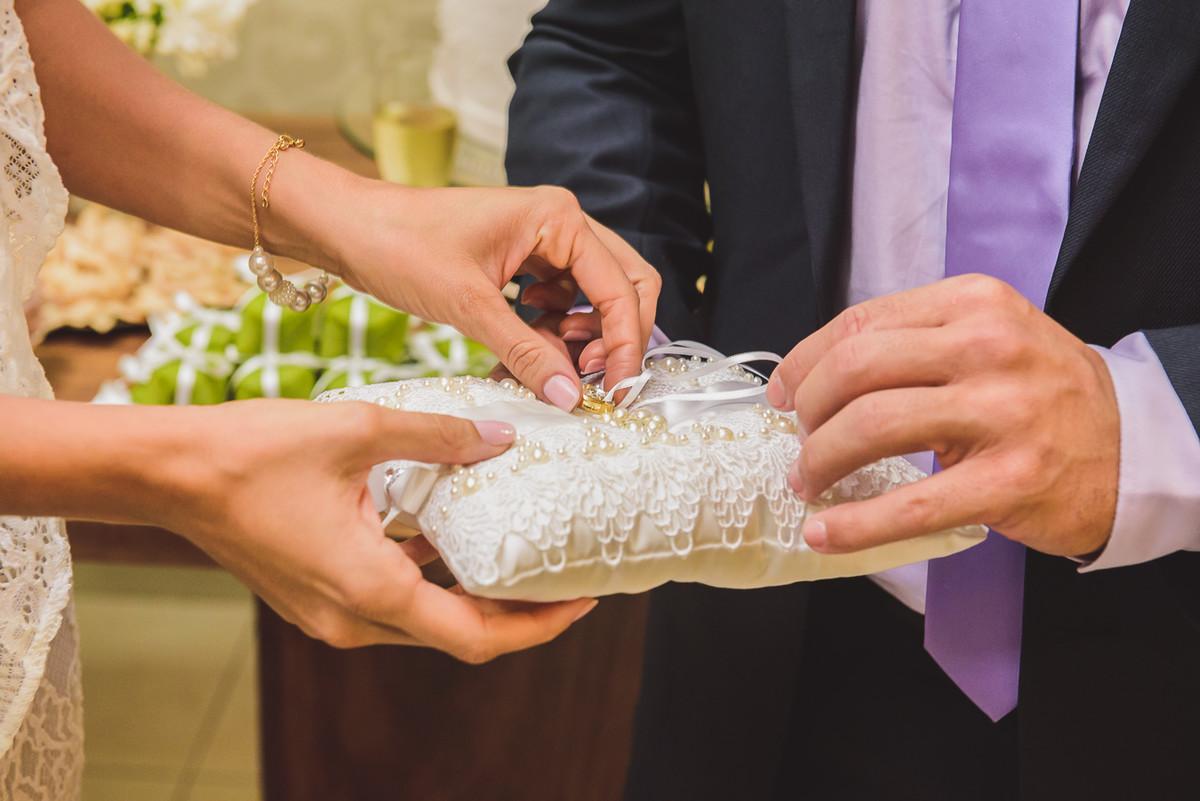 detalhes do casamento são as alianças