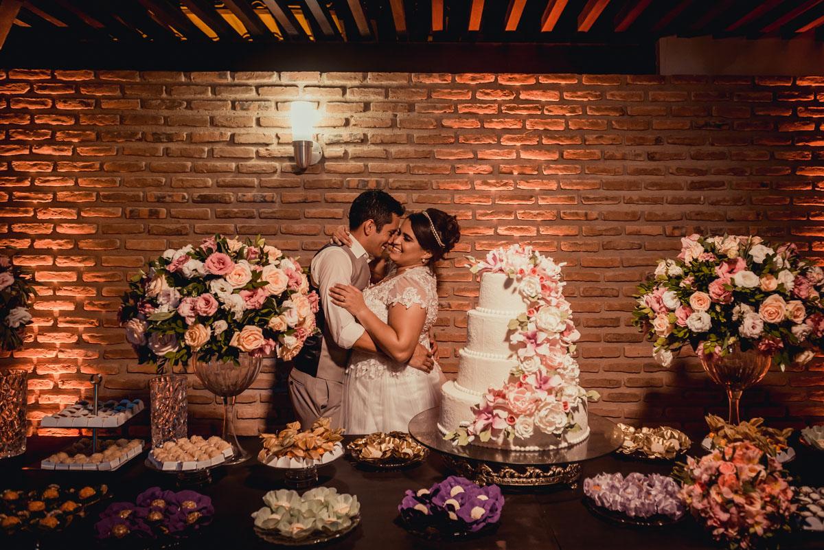 Foto dos noivos na festa