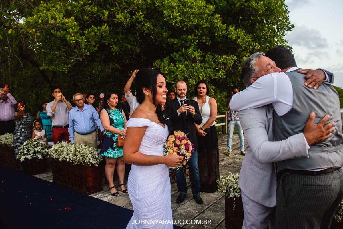 comprimentos com o pai da noiva