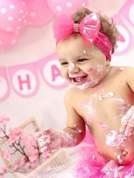 Ensaio Infantil de Thaína Smash The Cake em Piracicaba/SP
