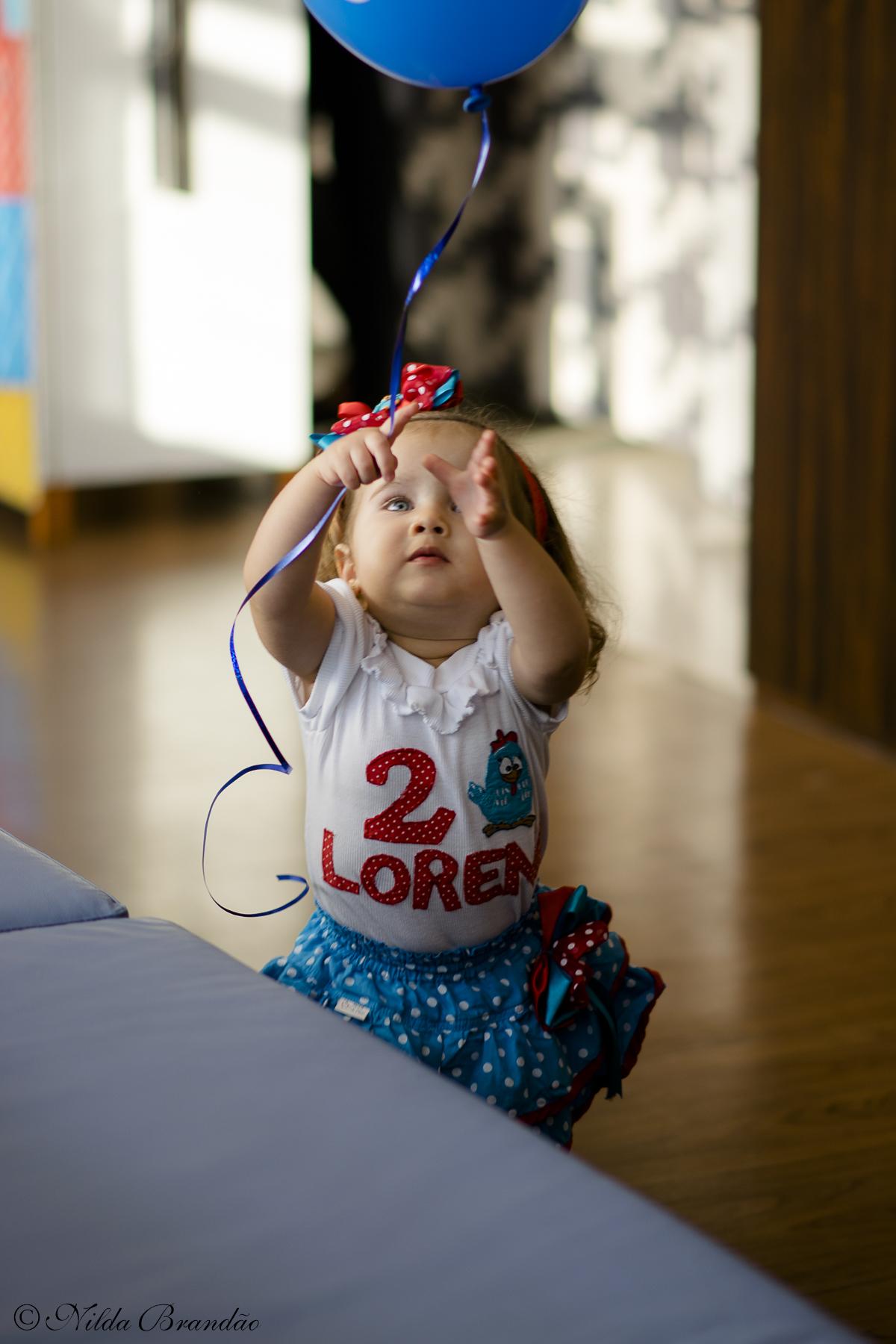 Quem não ama balão de gas? A Lorena ama!
