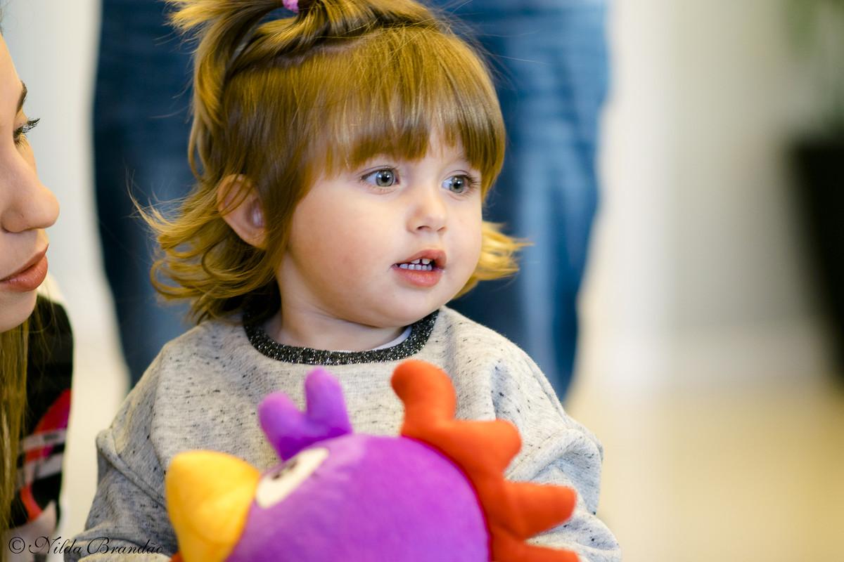 Foto da menina linda no aniversario da Lorena.