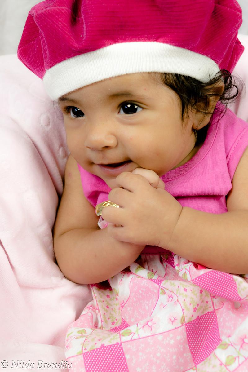 Bebê de rosa