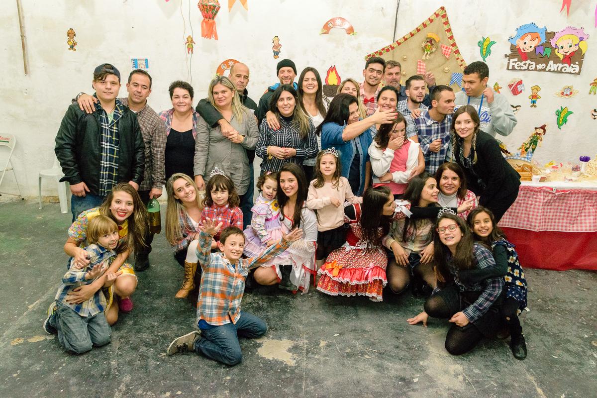 Familia reunida para foto