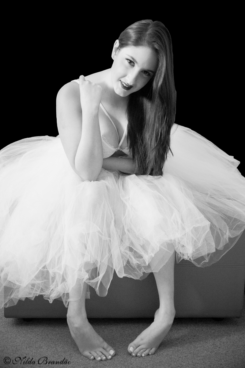 Imitando classica fotografia de marilyn Monroe